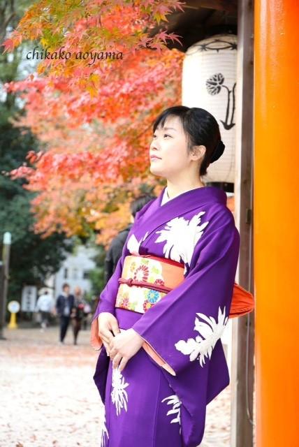 着物でおさんぽプチ撮影会のお写真/大阪の着付け教室きものたまより