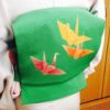 折り鶴のポイント柄の帯を攻略!/大阪の着付け教室きものたまより