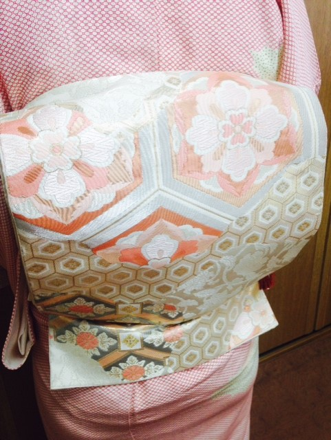 礼装コース3回目の着姿/大阪の着付け教室きものたまより