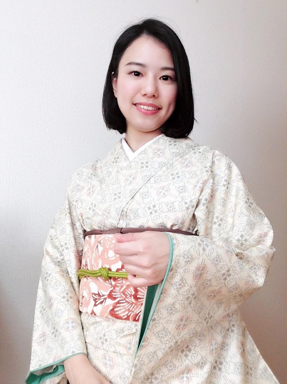 八掛が好みの着物/大阪の着付け教室きものたまより