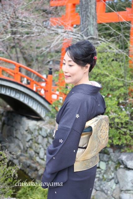 着物でおさんぽプチ撮影会4月の部のお写真をご紹介/大阪の着付け教室きものたまより