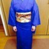 熨斗目の刺繍がとても豪華な袋帯/大阪の着付け教室きものたまより