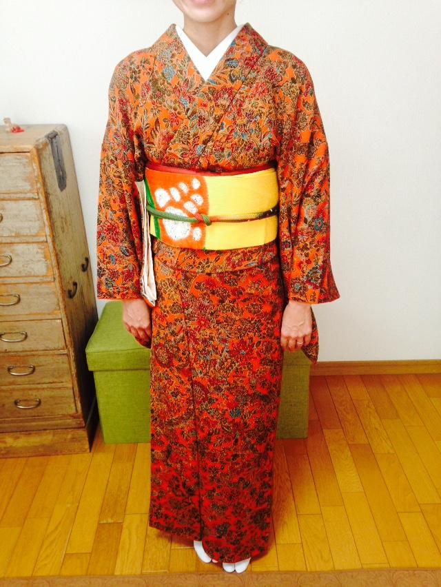 お生徒さんのビフォーアフター/大阪の着付け教室きものたまより