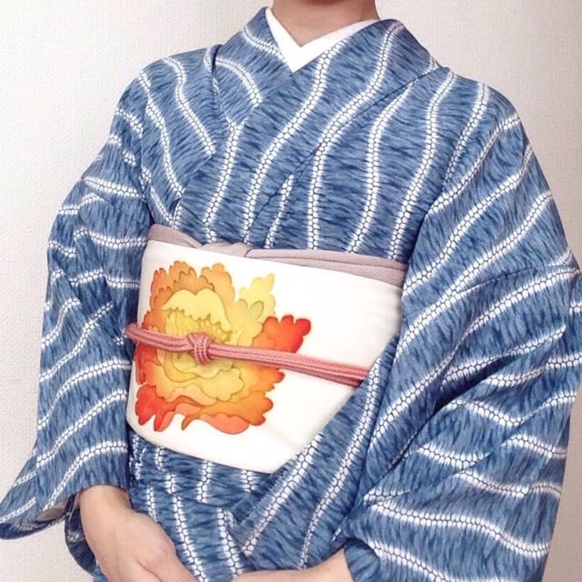 5月の単衣コーデその1/大阪の着付け教室きものたまより