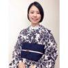 浴衣を着物風に着たコーデ2つ/大阪の着付け教室きものたまより