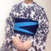 リバーシブルの半幅帯でデパートのマネキン風に/大阪の着付け教室きものたまより