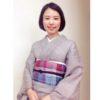 やっぱり涼しい麻の着物と帯のコーデ/大阪の着付け教室きものたまより