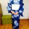足袋を履いた時の浴衣の着方をレッスン/大阪の着付け教室きものたまより