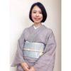 アンティークの涼し気な帯が主役/大阪の着付け教室きものたまより