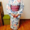 浴衣コースで着物にも結べる半幅帯の結び方を習得/大阪の着付け教室きものたまより
