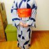 アンティークの粋な浴衣でレッスン/大阪の着付け教室きものたまより