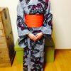浴衣を着て祇園祭に行かれたお生徒さん/大阪の着付け教室きものたまより