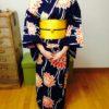 浴衣レッスンを受けてお祭に着て行かれたお生徒さん/大阪の着付け教室きものたまより