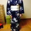 素敵な浴衣と半幅帯でレッスン/大阪の着付け教室きものたまより