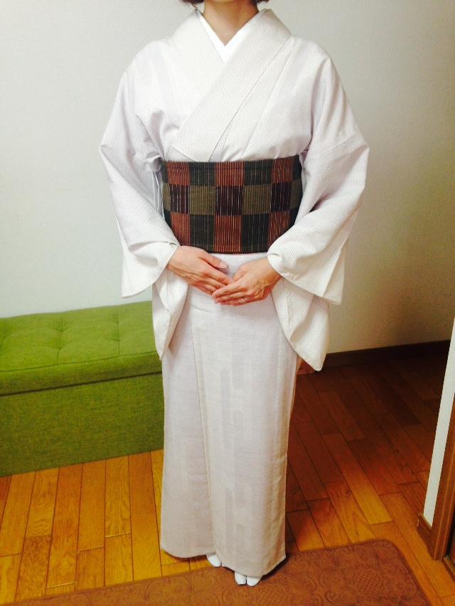 半幅帯の結び方5種類を習得されました/大阪の着付け教室きものたまより