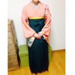 中学生のお生徒さんに袴のレッスン/大阪の着付け教室きものたまより