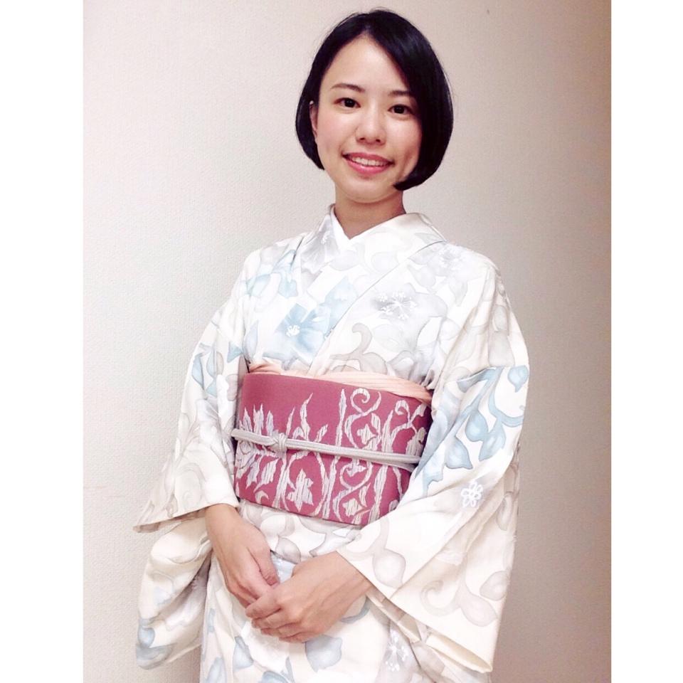 正絹の柔らかものの着物はやっぱりテンションが上がります/大阪の着付け教室きものたまより