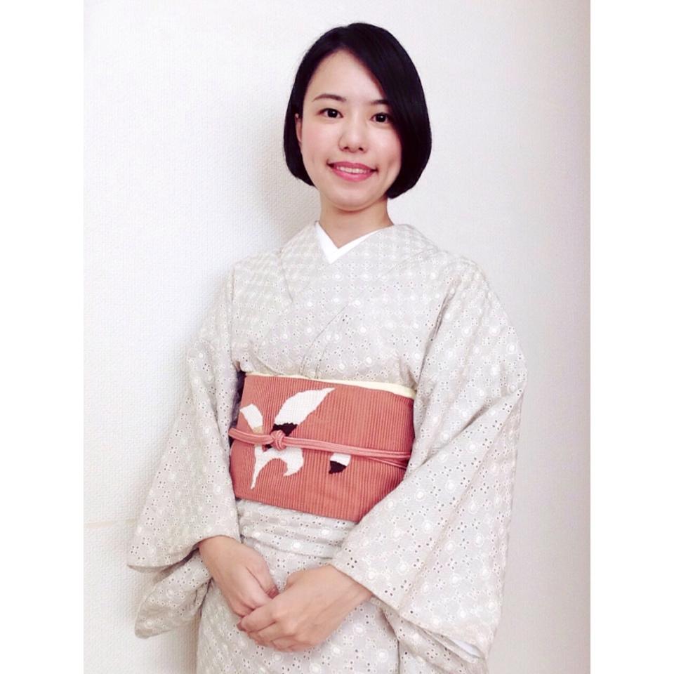 8月最後の装いはこんなコーデでした/大阪の着付け教室きものたまより