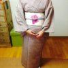 ポイント柄の帯と角出しのレッスン/大阪の着付け教室きものたまより