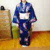 角出しに初挑戦・バランスよく結べました/大阪のマンツーマン着付け教室