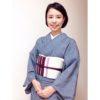 縞々帯が主役の着物コーデ/大阪のマンツーマン着付け教室