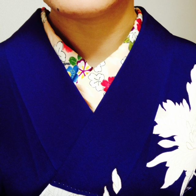 ポイントレッスンで半衿たっぷり見せ【大阪京橋のマンツーマン着付け教室】