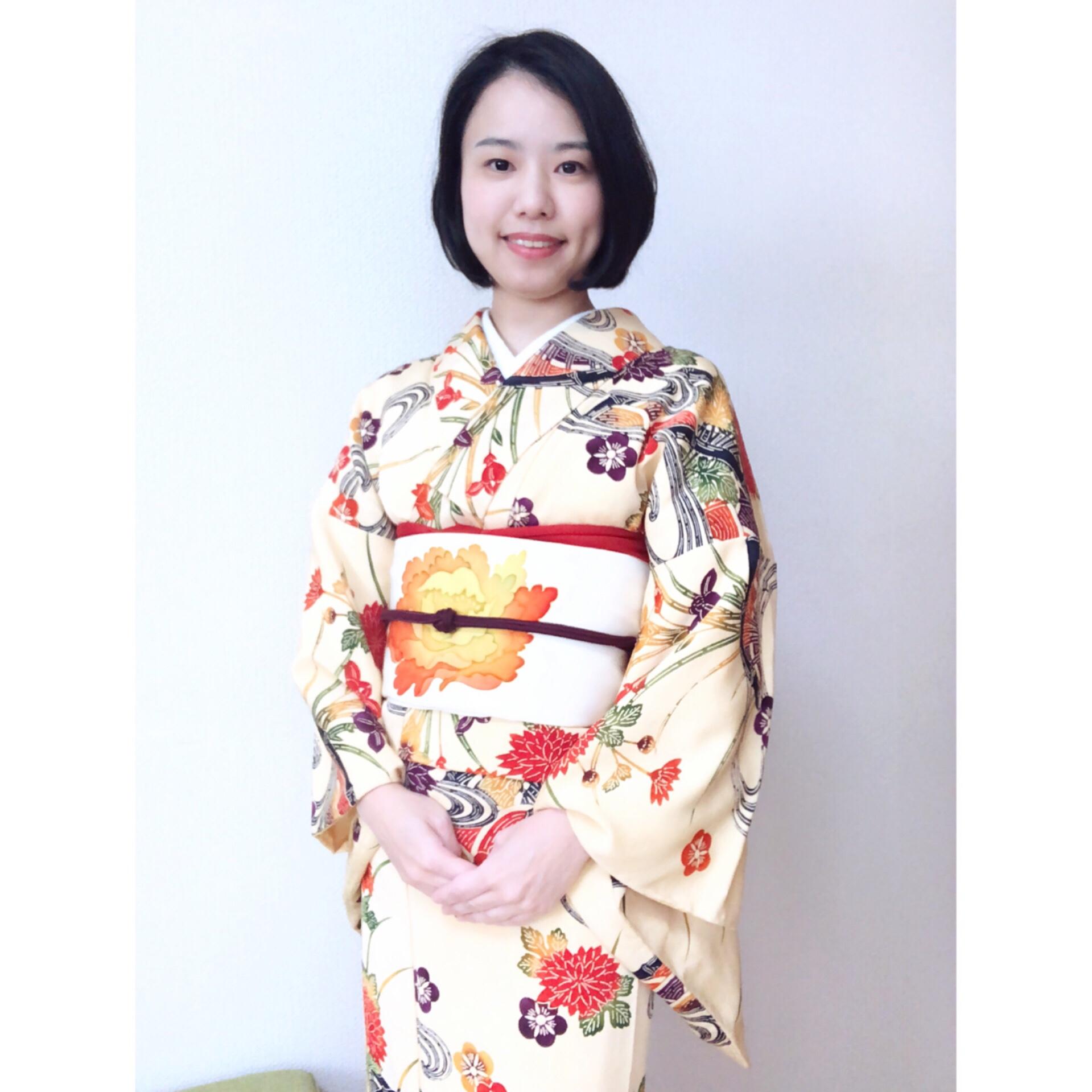 新年最初のレッスンコーデ【大阪京橋の着付け教室きものたまより】
