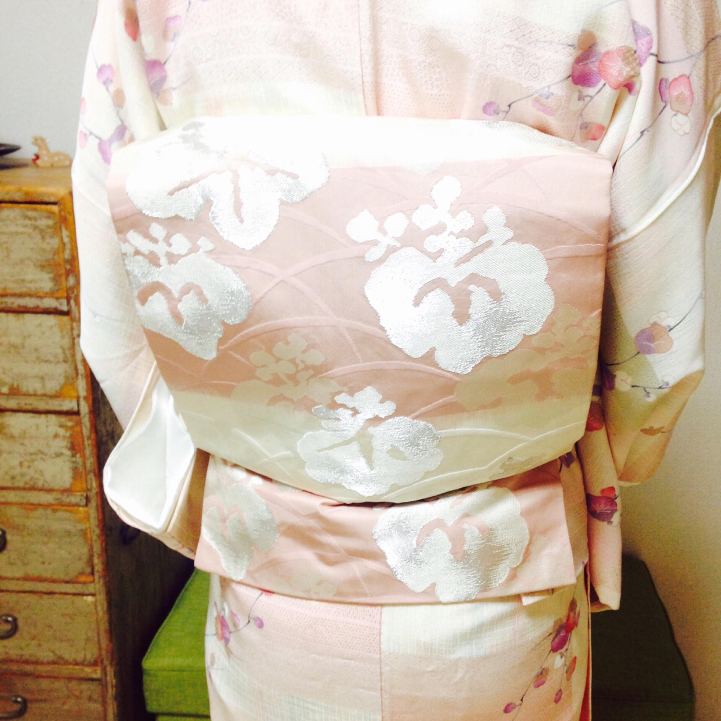 初詣にお着物で着て行かれたお生徒さんのコース前半レポ【大阪京橋の着付教室きものたまより】