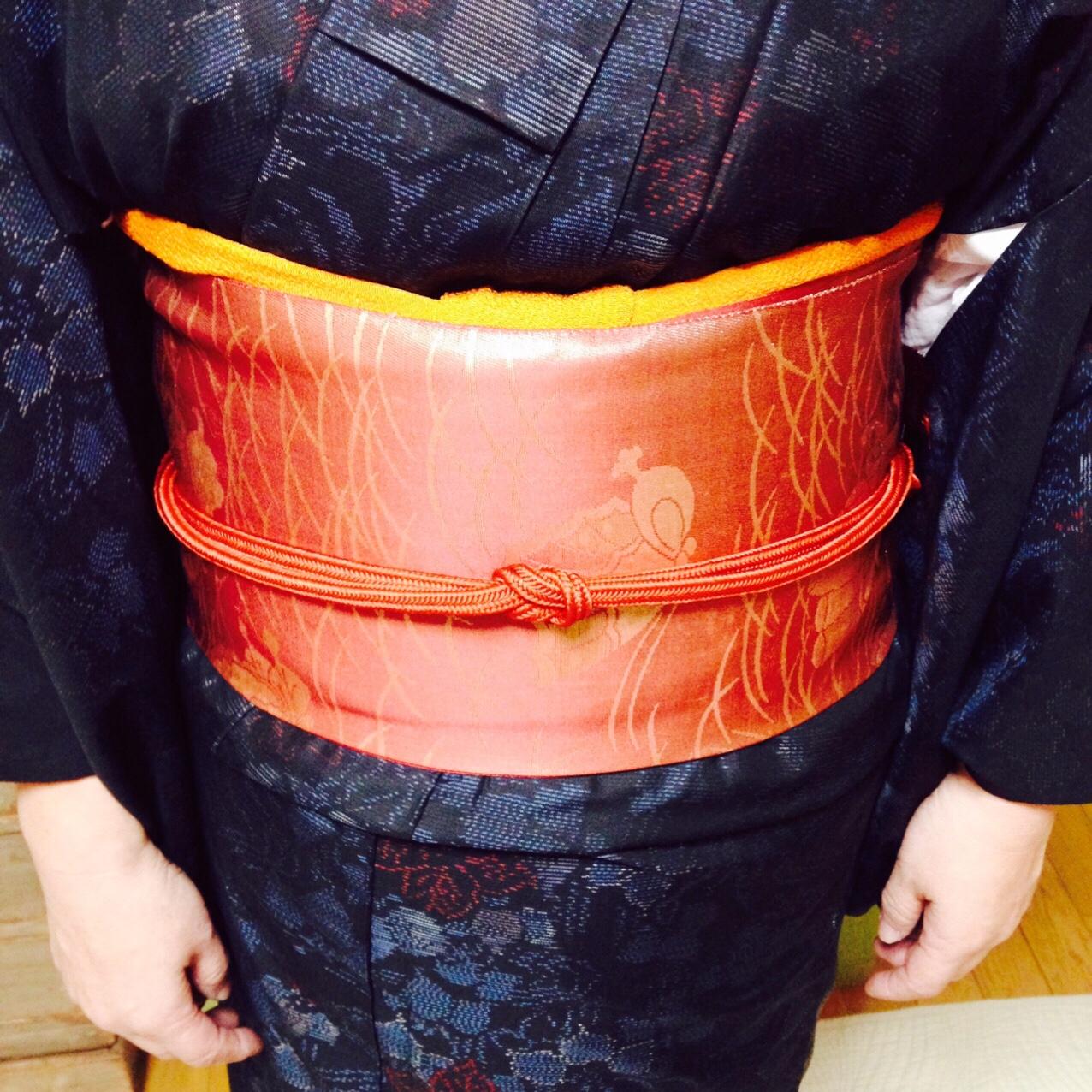 帯揚げが見えにくい方にはふっくら帯揚げを【大阪京橋の着付け教室きものたまより】