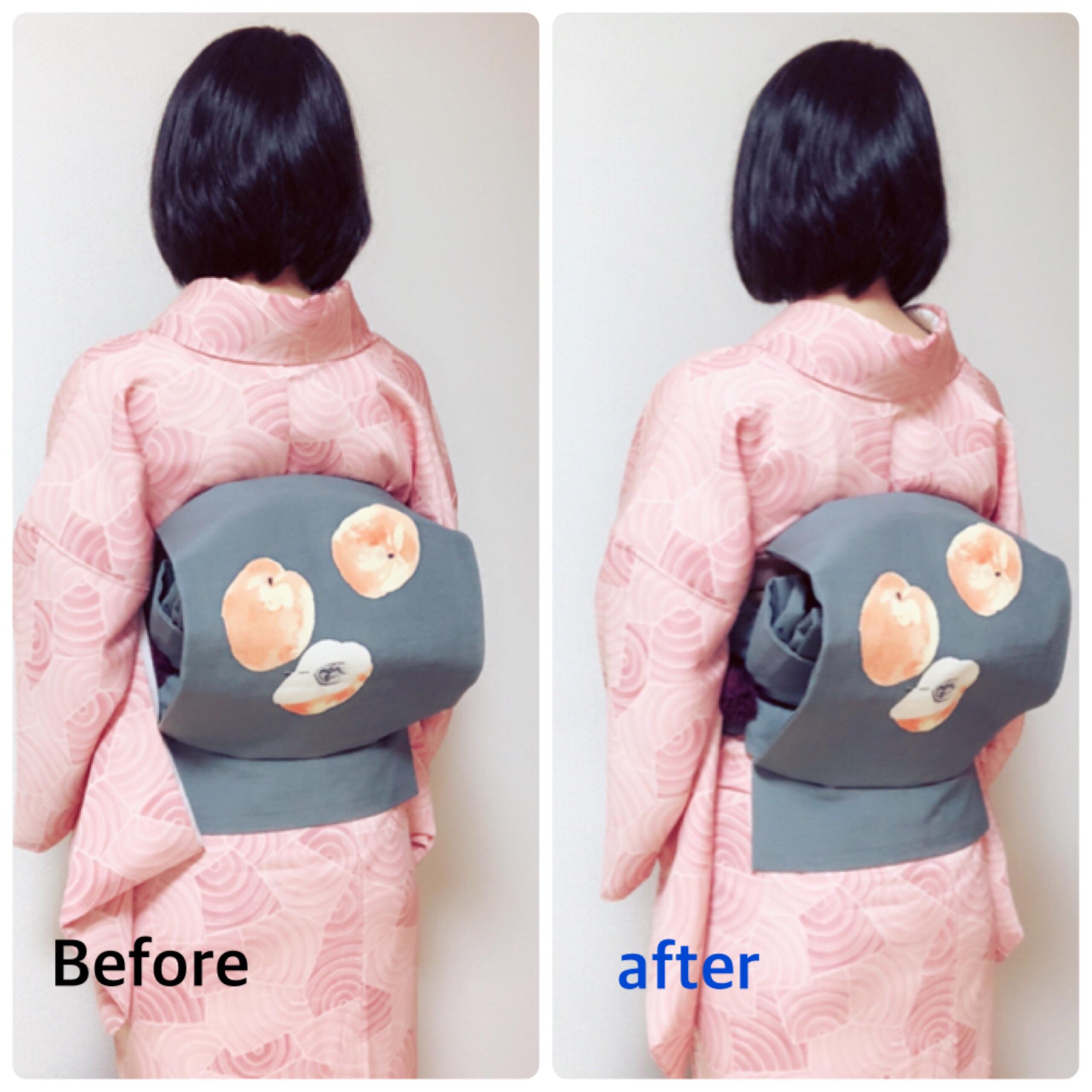 着付け中に詰まってしまった衣紋を復活させる方法【大阪京橋の着付け教室きものたまより】