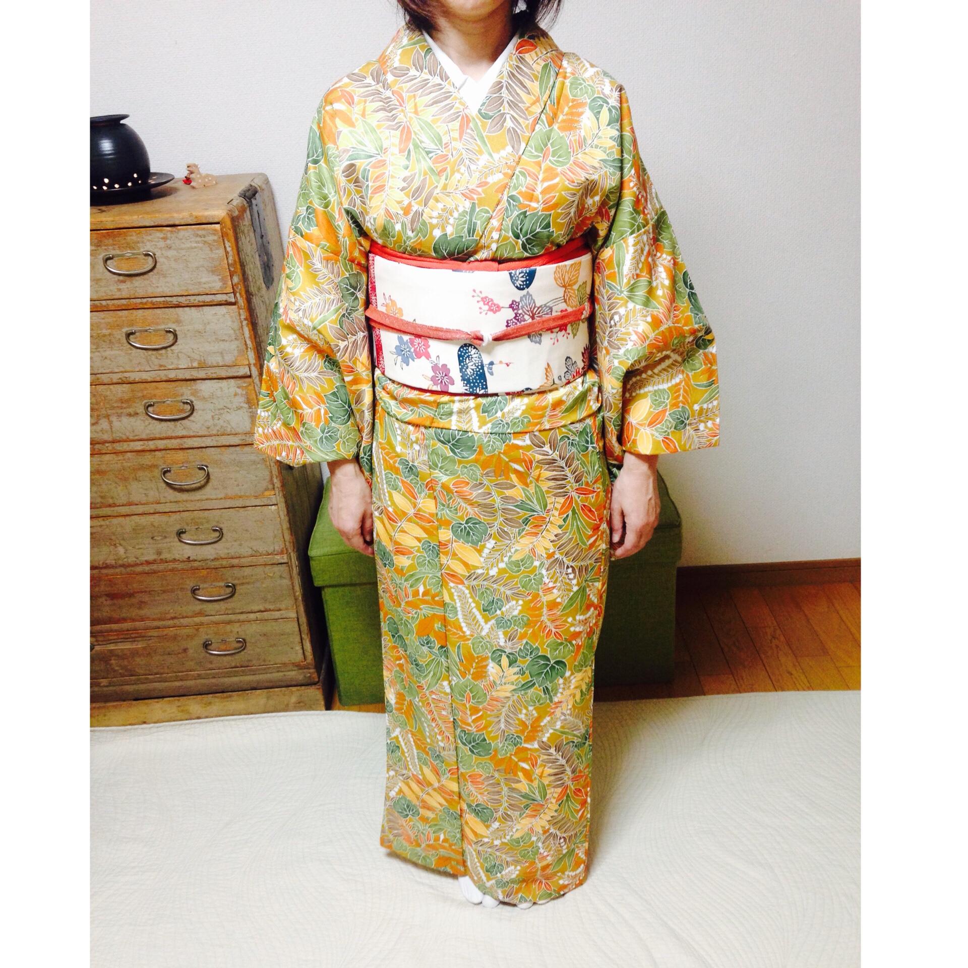 着付け師になりたいお生徒さん・まずは自装から【大阪京橋の着付け教室きものたまより】