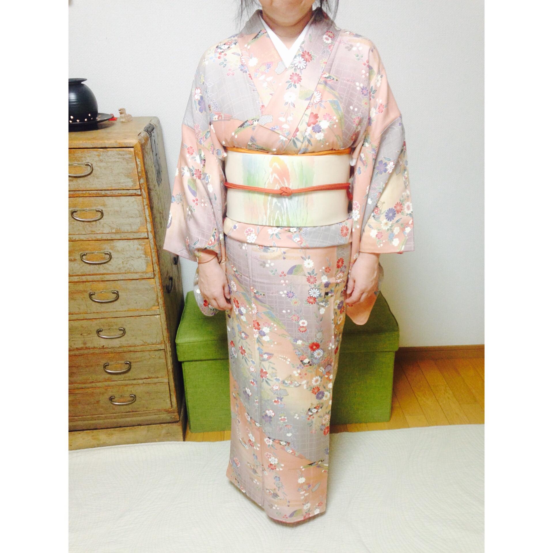 お正月に向けて自分の着付けと娘さんに着せ付けと【大阪京橋の着付け教室きものたまより】