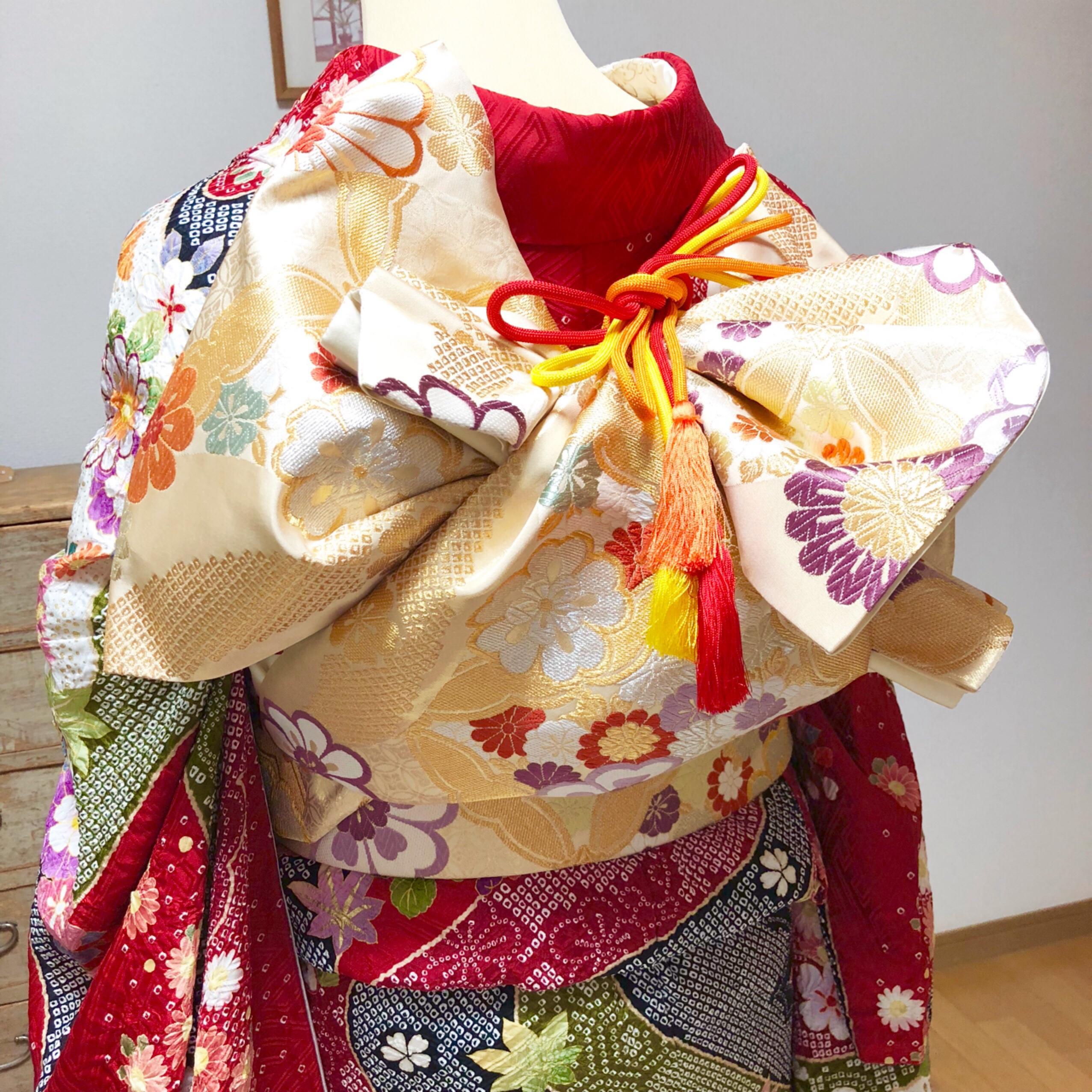 成人式前におさらいのため着せ付け単発レッスンへ【大阪京橋の着付け教室きものたまより】