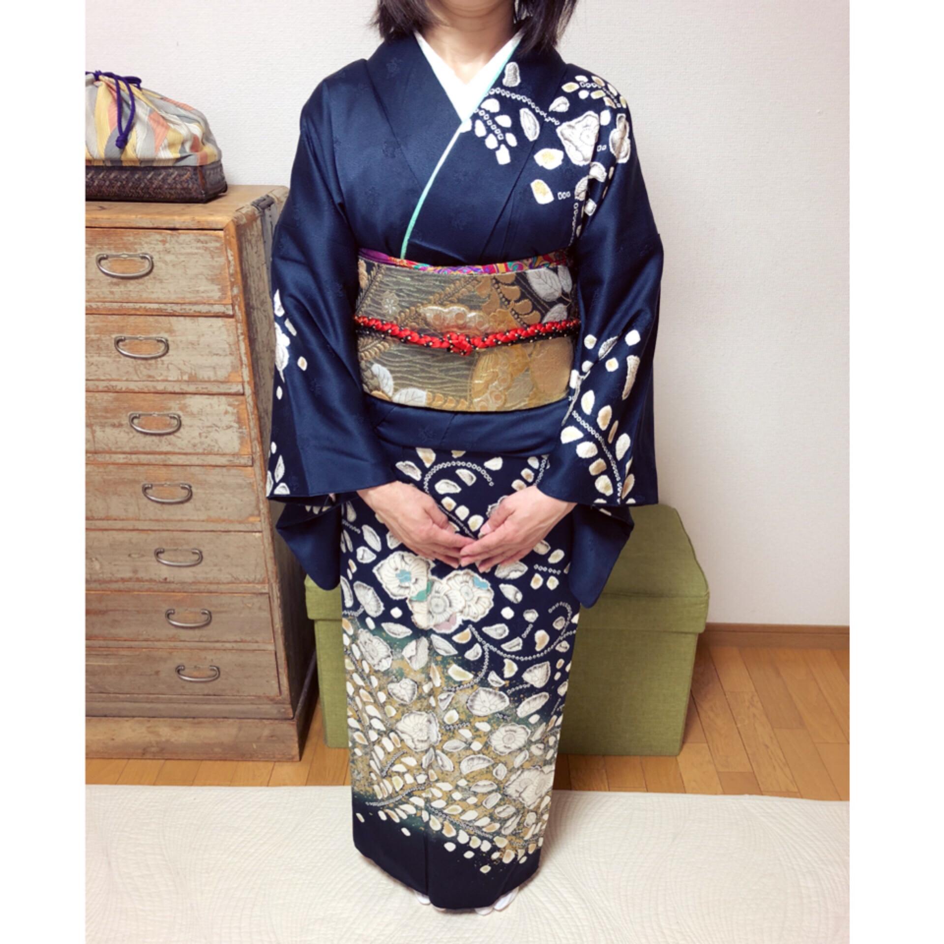 最後は礼装コース2コマ受講でご卒業されました【大阪京橋のマンツーマン着付け教室きものたまより】