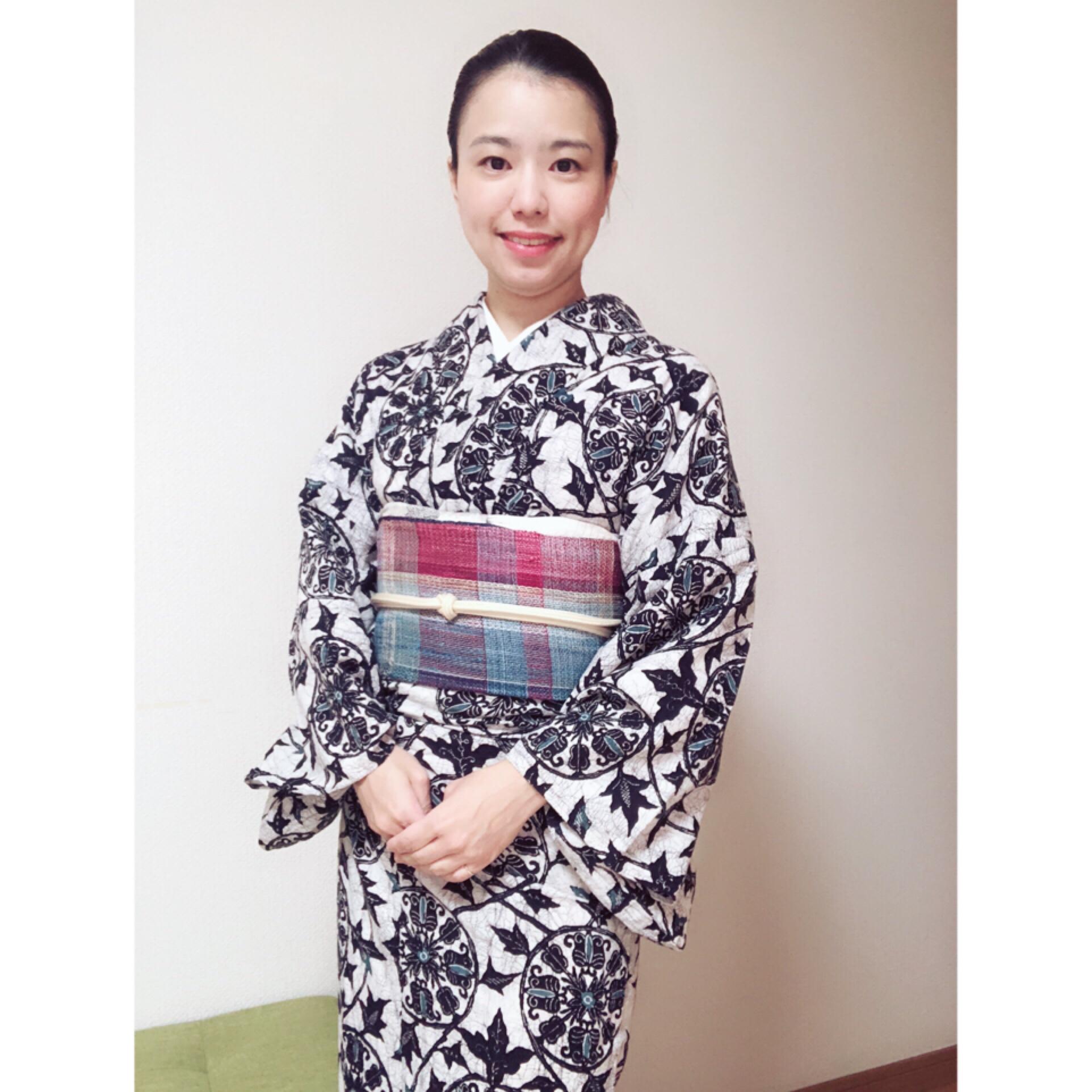 盛夏の着物と浴衣コーデ【大阪京橋の着付け教室きものたまより】