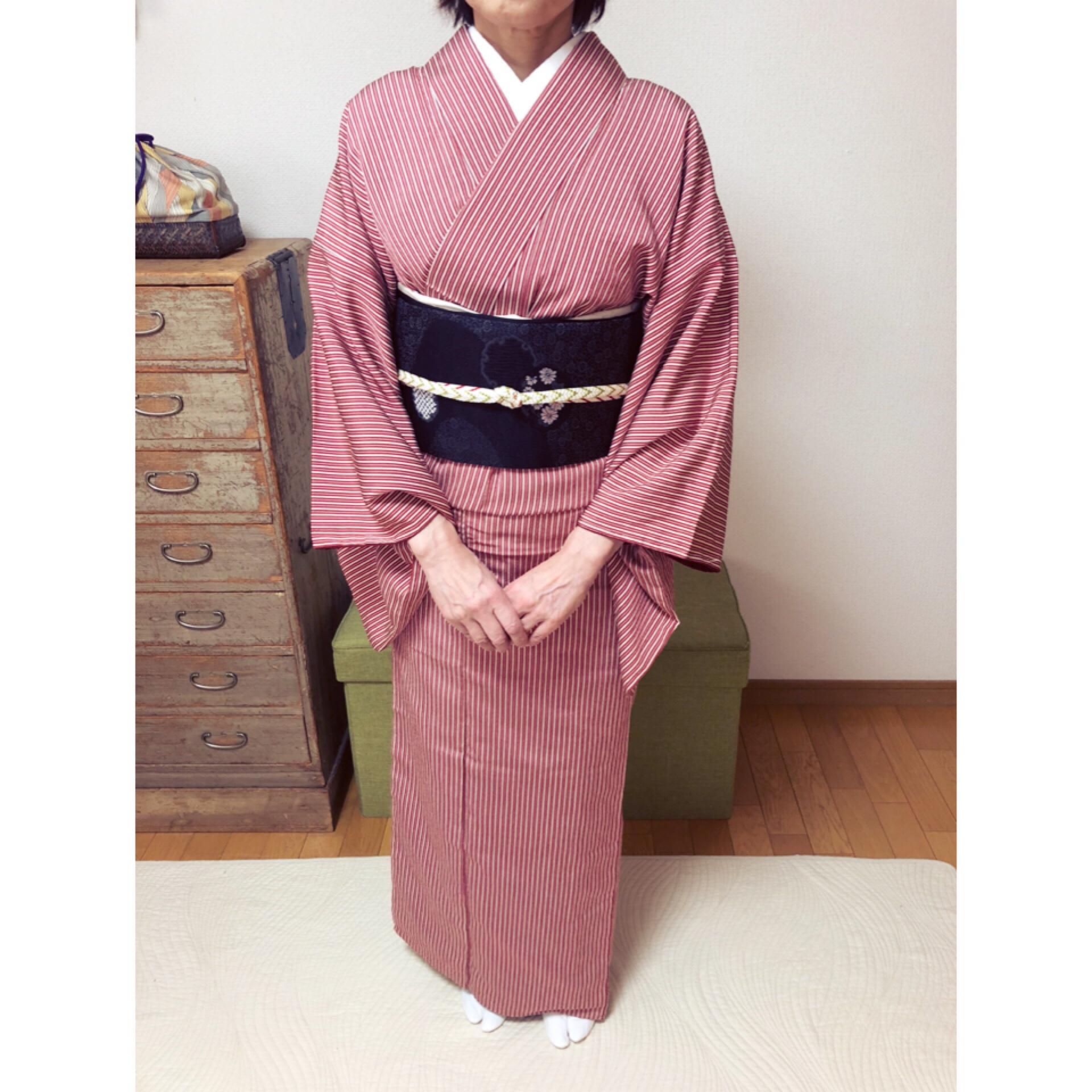 お母さまが残されたお着物でレッスン【大阪京橋の着付け教室きものたまより】