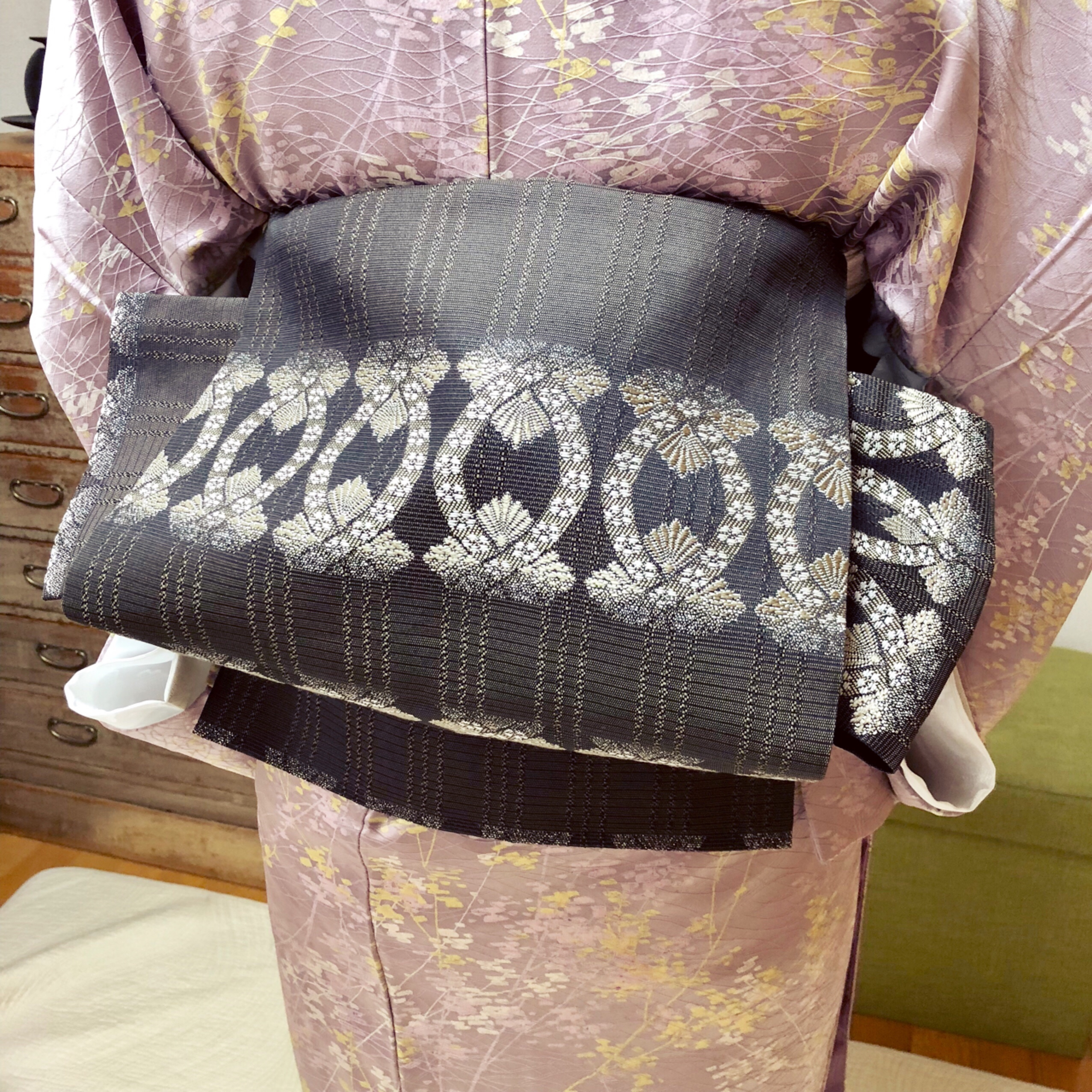 昔ながらのお道具のみを使った着付けを習得されました【大阪京橋の着付け教室きものたまより】