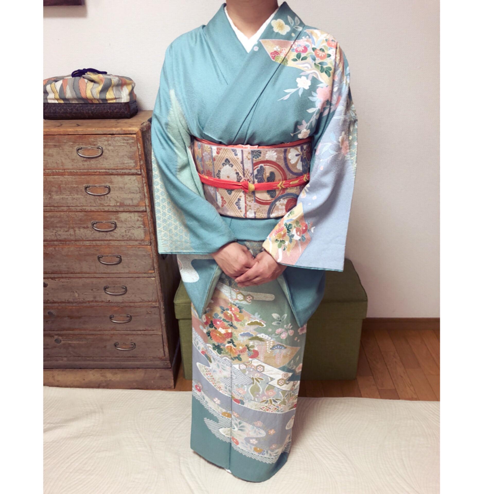 こんなにビシッと着物を着れたのは初めてです!【大阪京橋の着付け教室きものたまより】