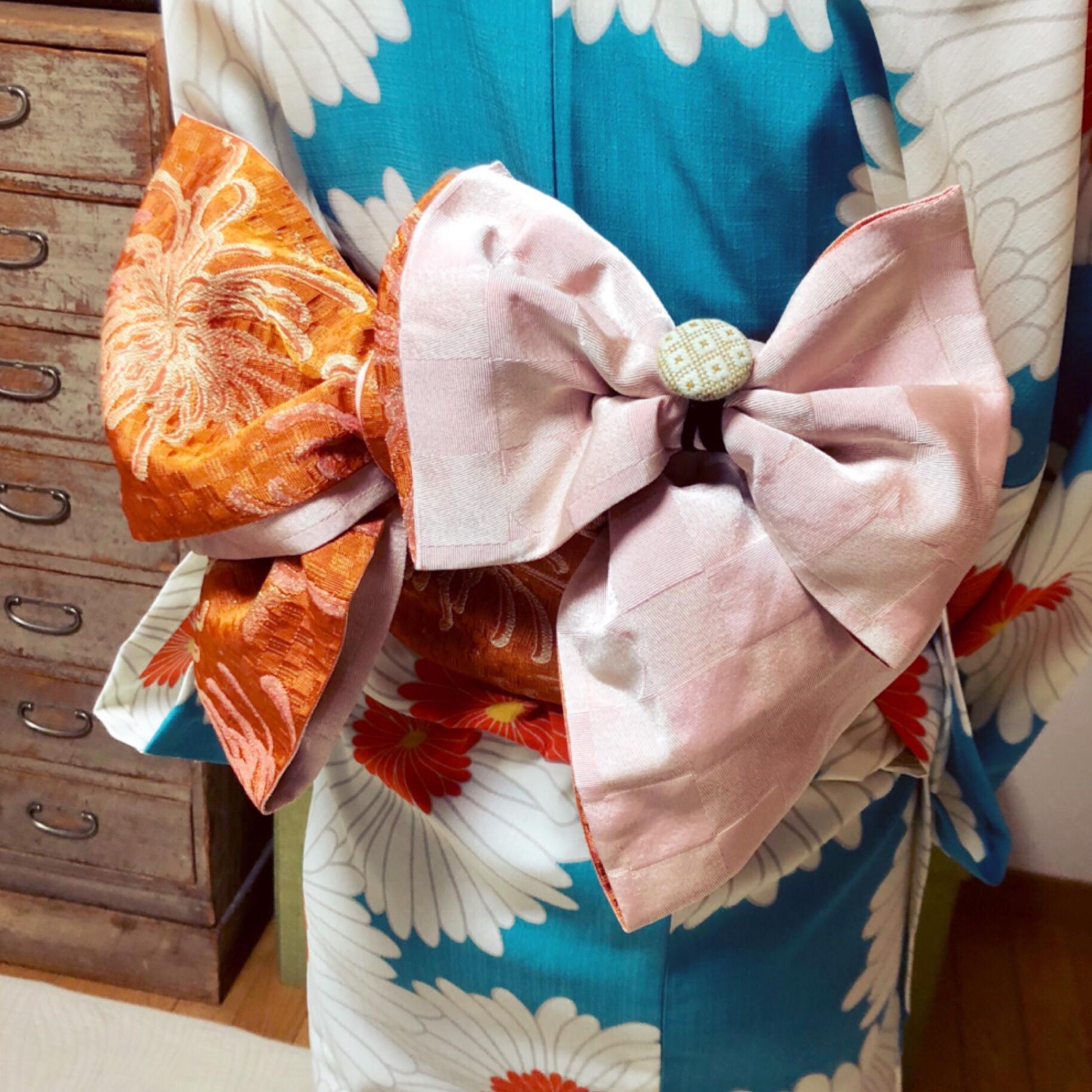 花火大会へご自分で浴衣を着付けて【大阪京橋の着付け教室きものたまより】