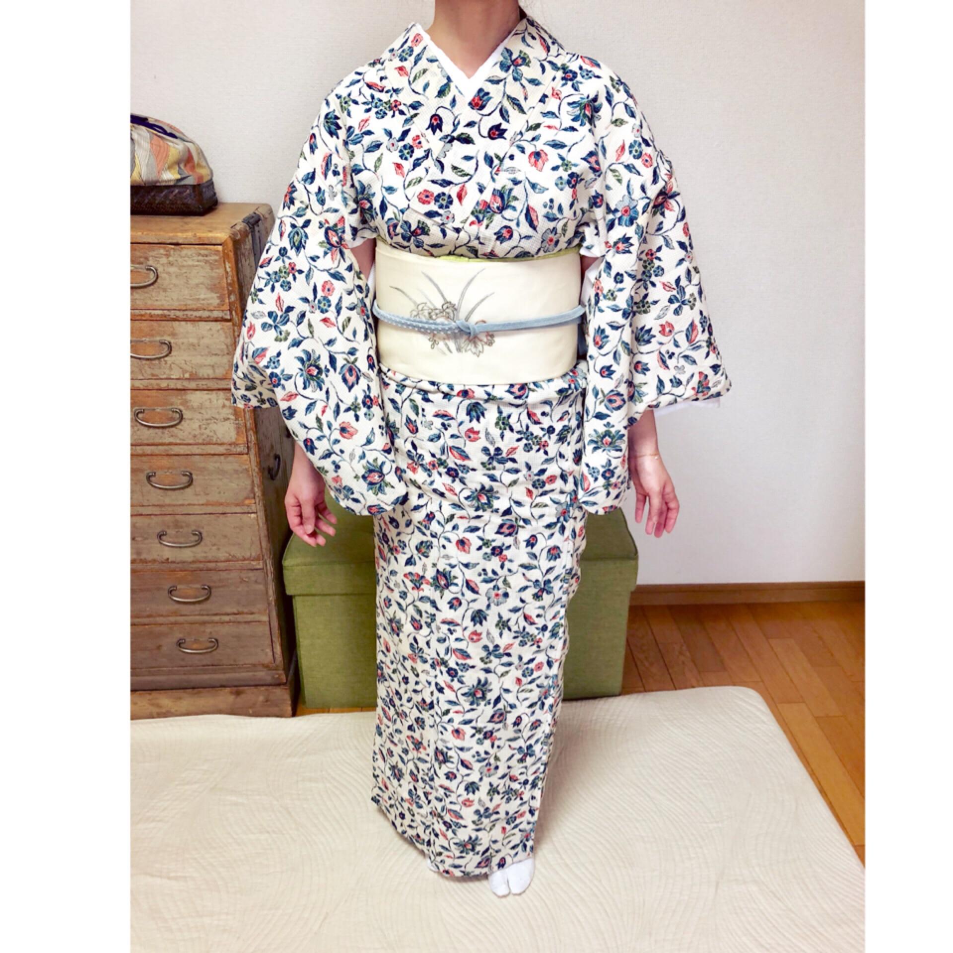 夏着物で夏の文楽公演に【大阪京橋の着付け教室きものたまより】