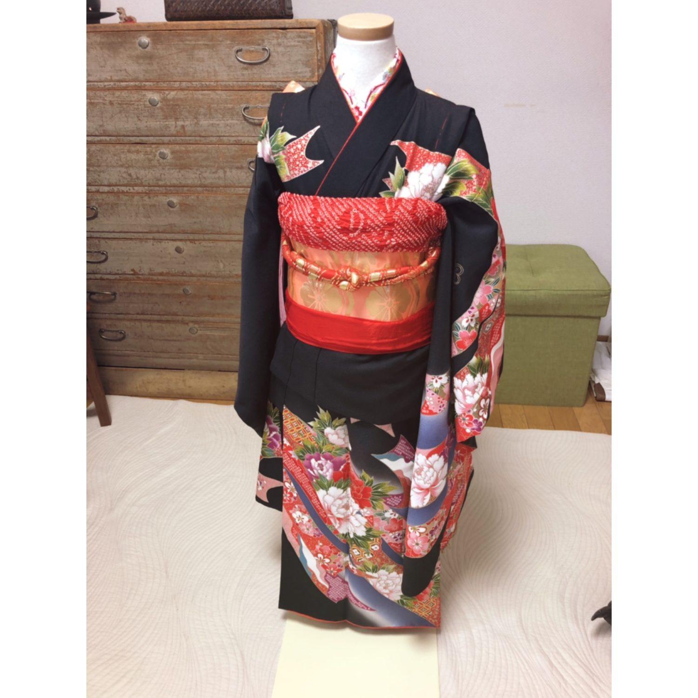 お孫さんに七五三・七歳の着せ付け【大阪京橋の個人着付け教室きものたまより】