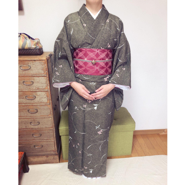 浴衣の次は着物のコースへ【大阪京橋の個人着付け教室きものたまより】