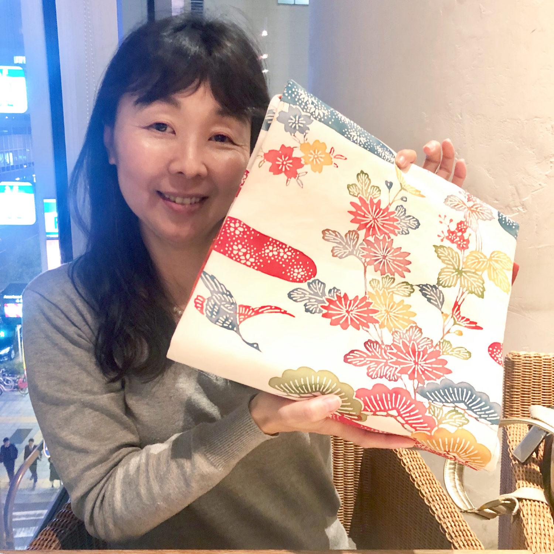 紅型の帯をもらっていただきました【大阪京橋の個人着付け教室きものたまより】