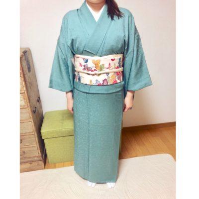 基本コース中に浴衣のおさらいも【大阪京橋の個人着付け教室きものたまより】