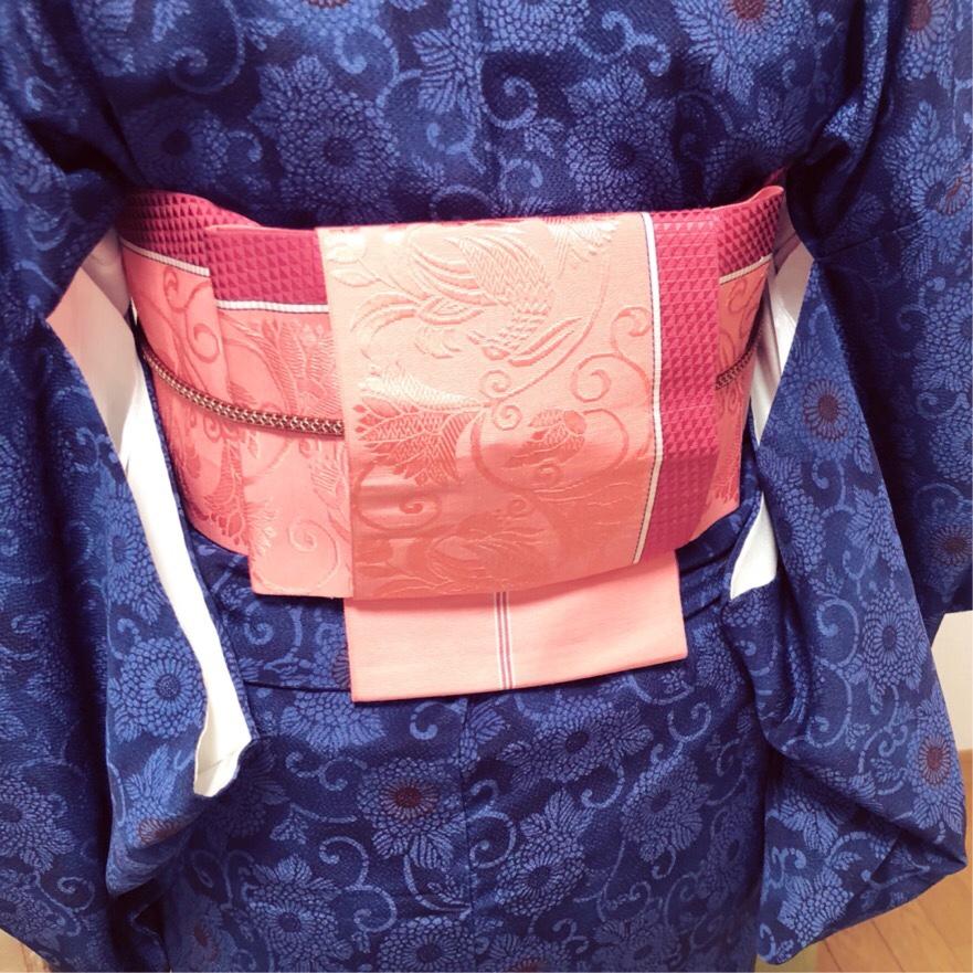 Yさんの基本コースレッスン・半幅帯は浴衣以外にも結べます【大阪京橋の個人着付け教室きものたまより】