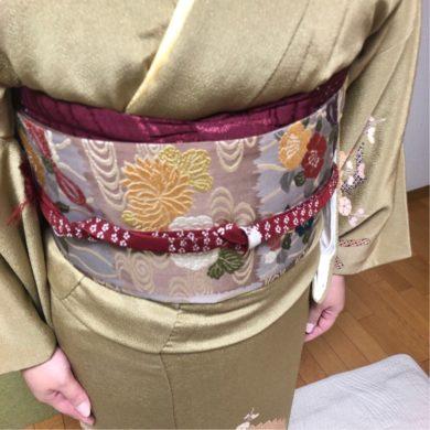 お母様が誂えられたお着物と袋帯で礼装レッスン