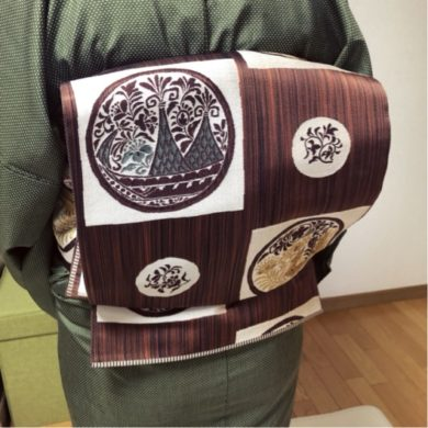 礼装コース後に普段着着物と帯の結び方をレッスン